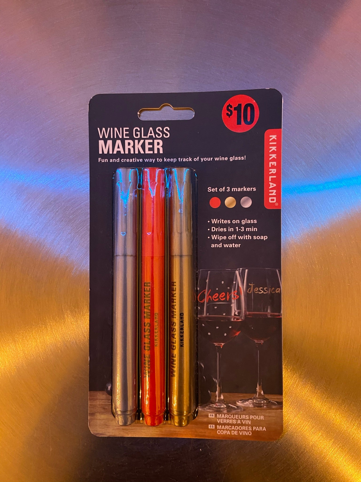 Washable Wine Glass Markers (Set of 3)