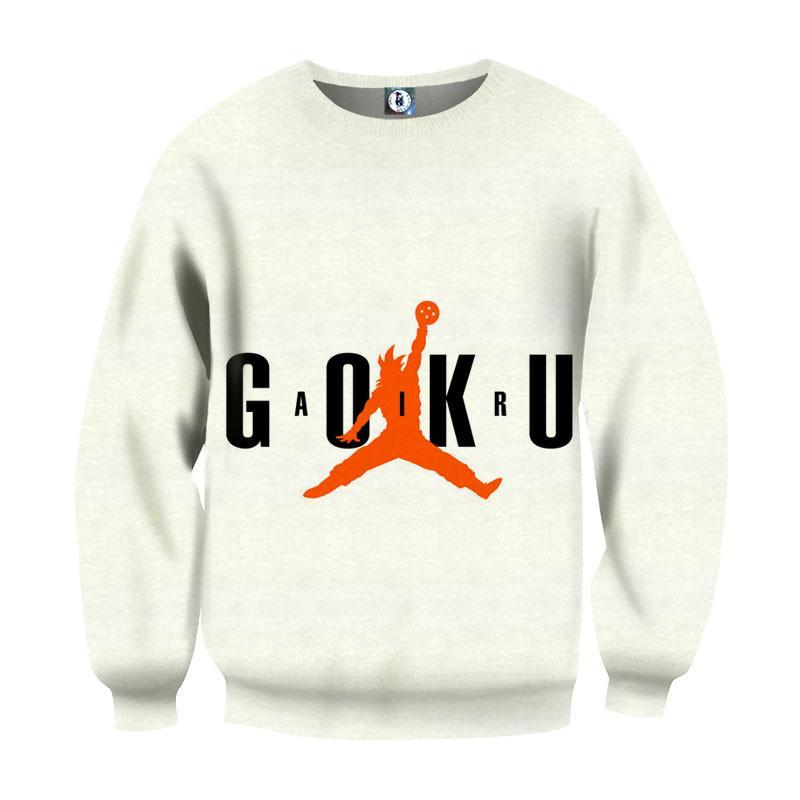 Dragon Ball Goku Jump Man Jordan Crossover Symbol Sweatshirt