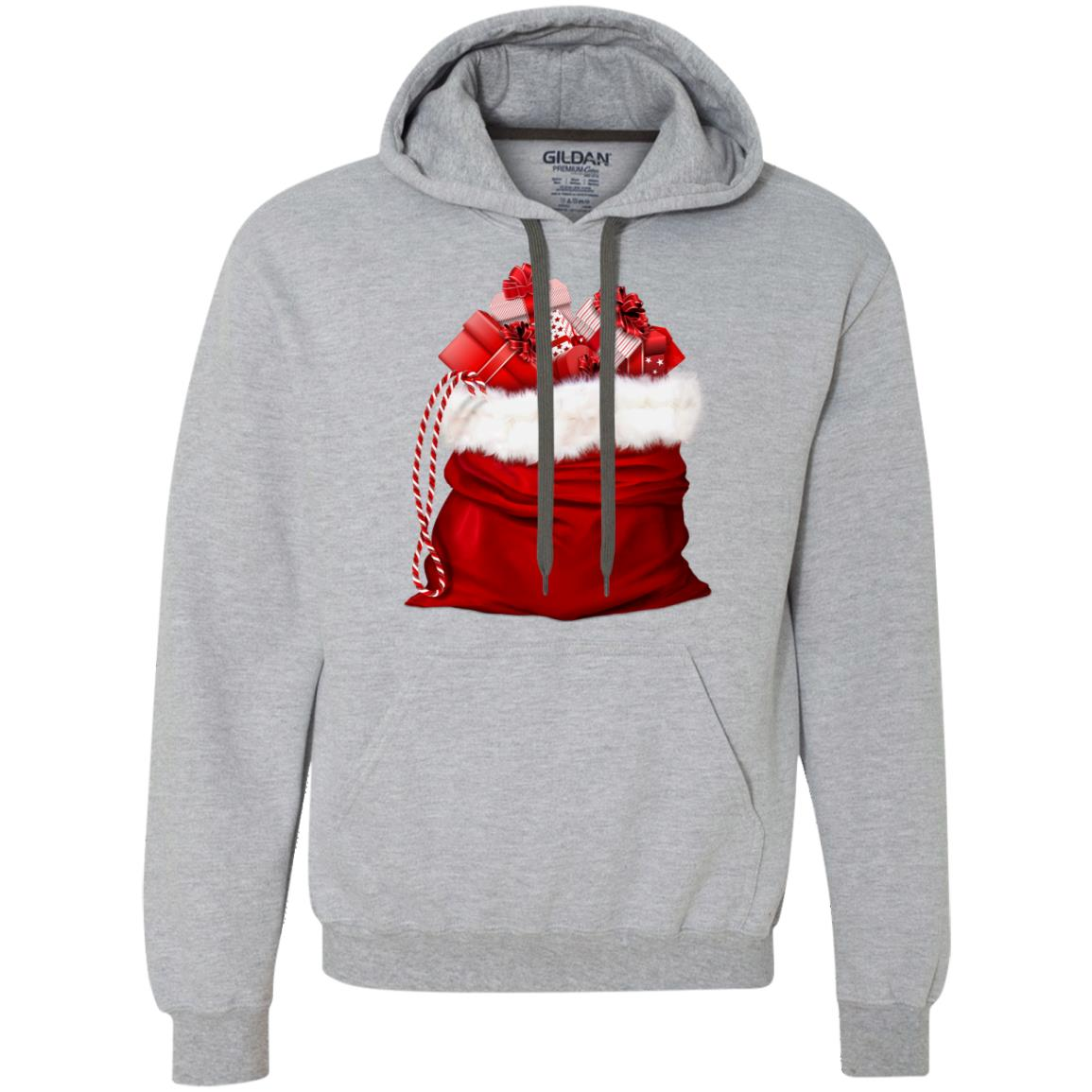 Christmas Santa Claus Gift Bag Pullover Fleece Sweatshirt