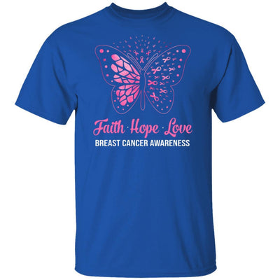 Faith Hope Love Pink Butterfly Breast Cancer Awareness