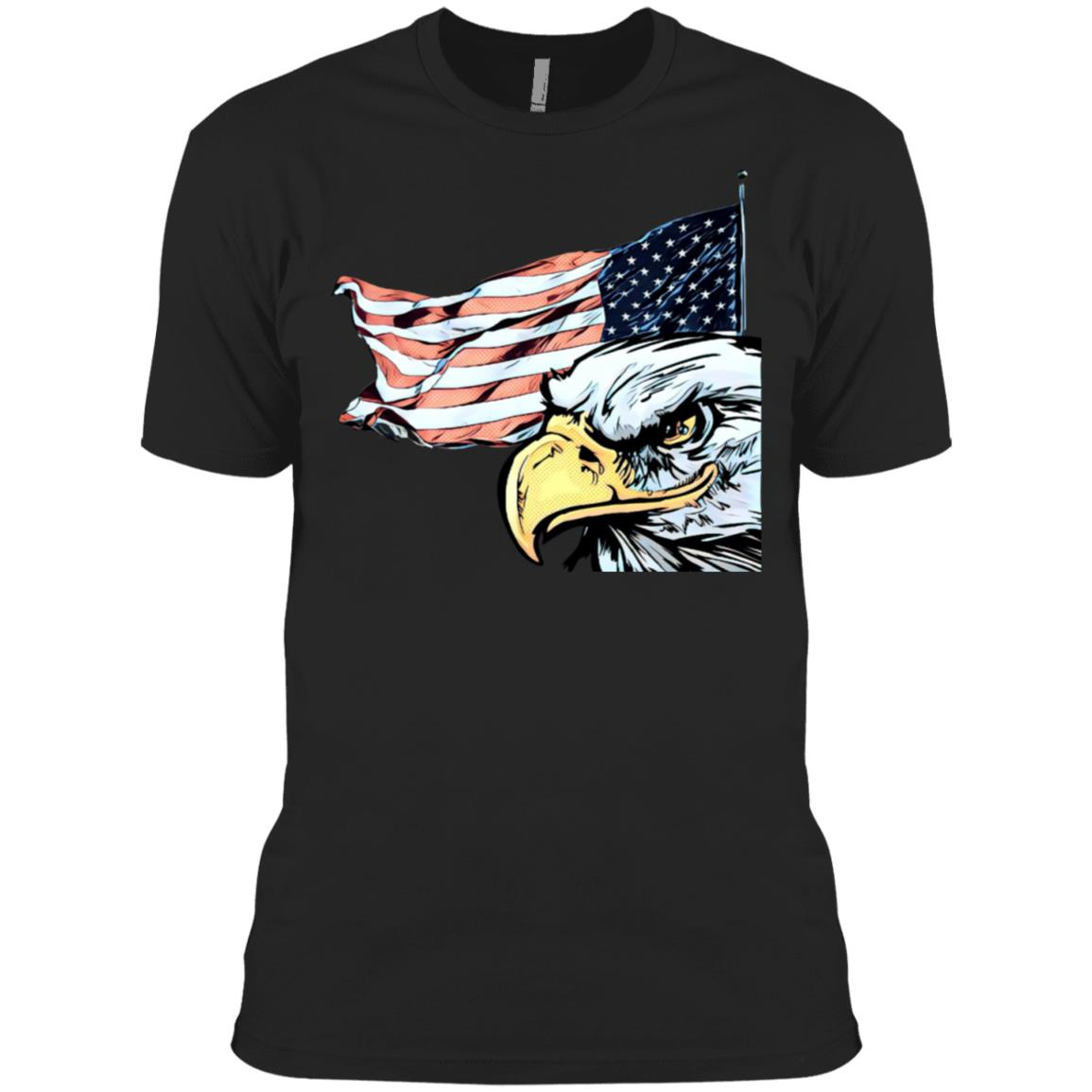 Pop Art Veterans Day Pop Art Retro Vintage Eagles Flags 3600A Next Level Men's Made in USA Cotton T-Shirt