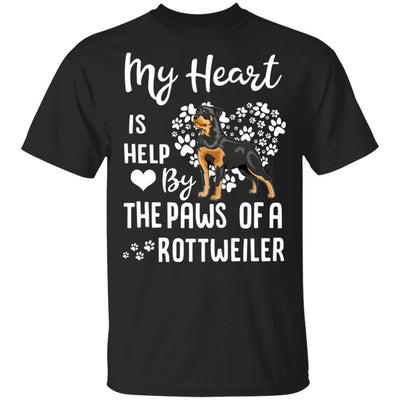 My Heart Is Held By The Paws Of A Rottweiler Lover