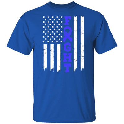 Prostate Colon Cancer Awareness American Flag Distressed