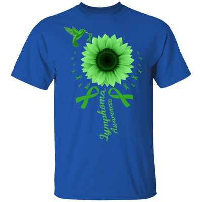 Hummingbird Sunflower Green Ribbon Lymphoma Awareness