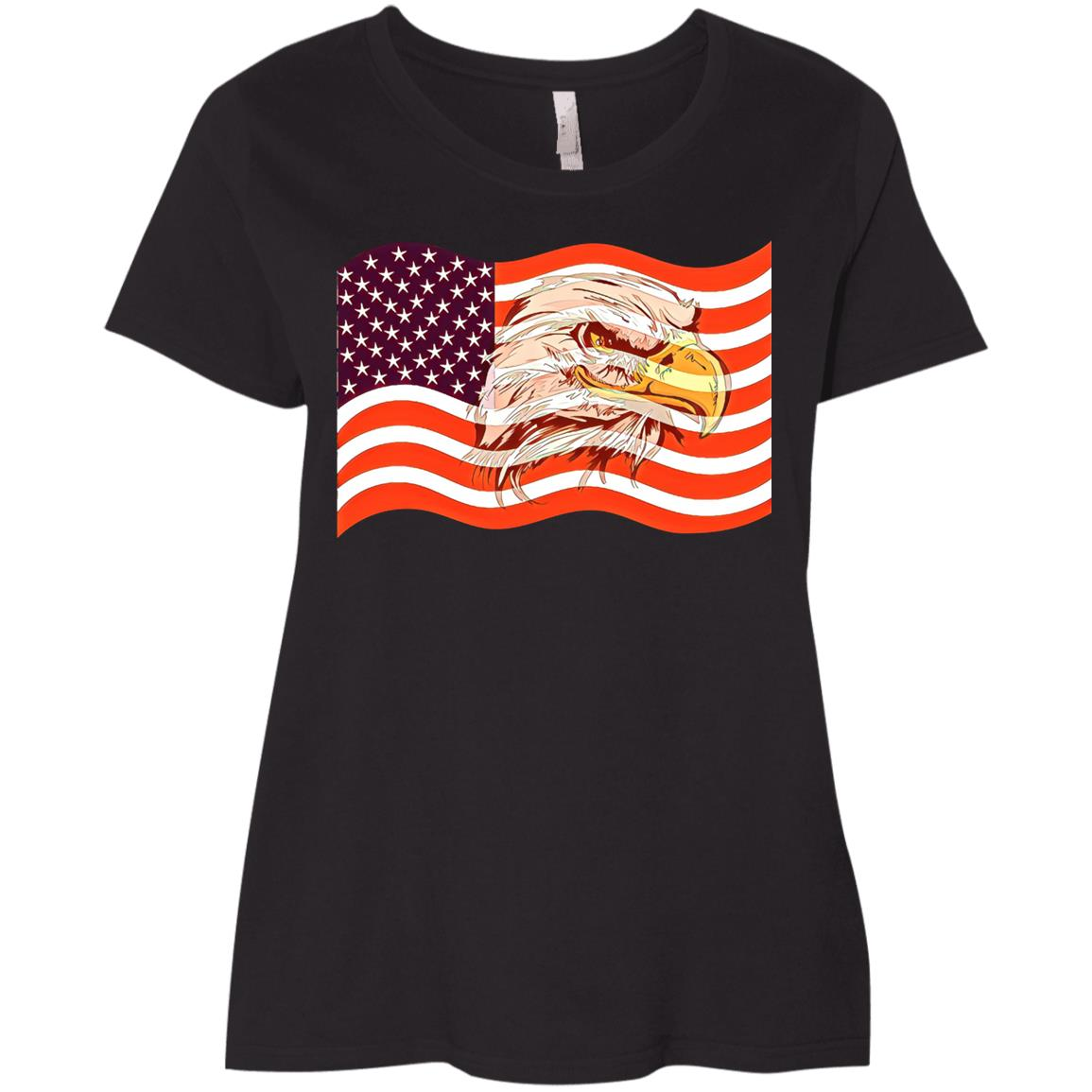 Flag Of United States Veterans Day Veteran Soldier Ladies' Curvy T-Shirt