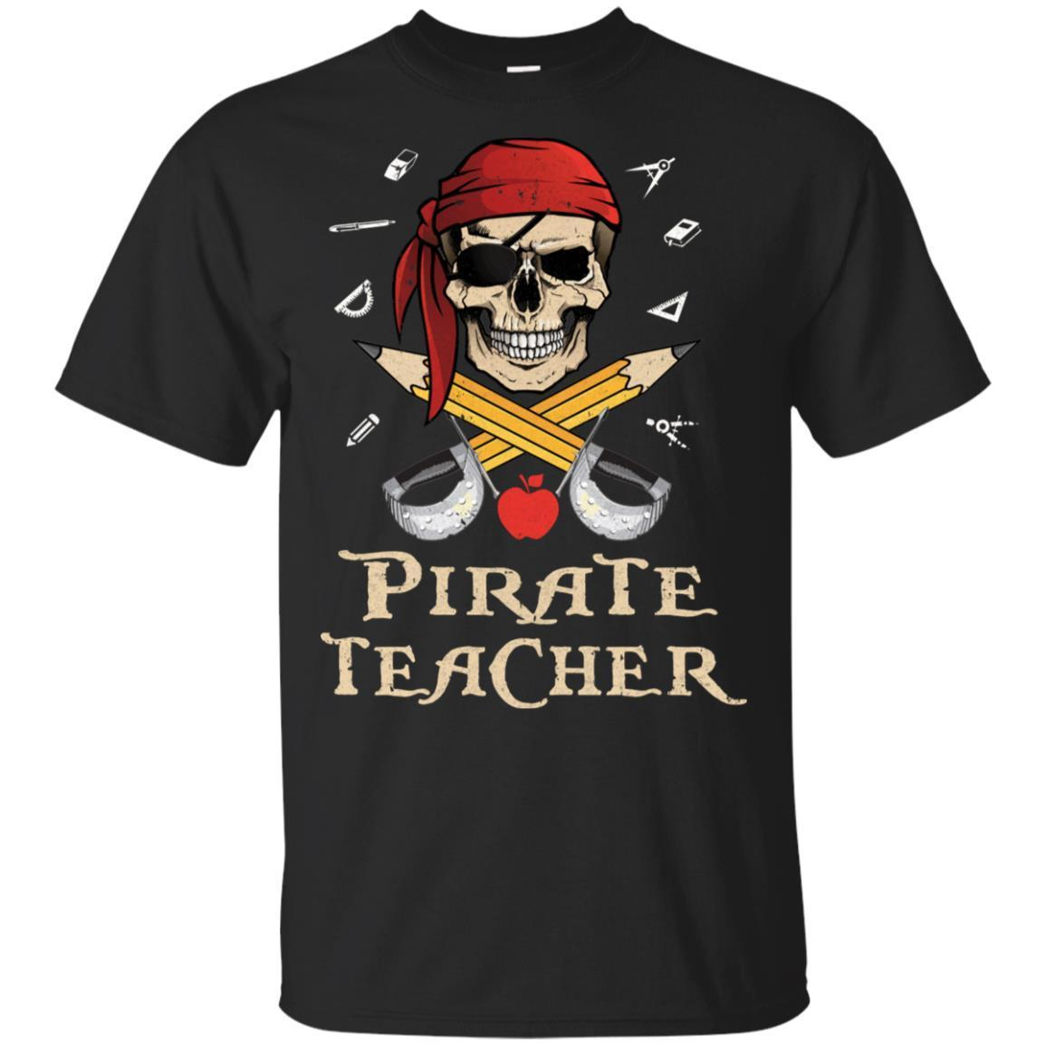 Funny Pirate Teacher Halloween Skull Adult Gift
