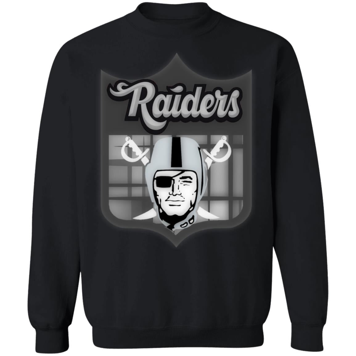 Oakland Raiders American Football Clipart Pullover Sweatshirt  8 oz.
