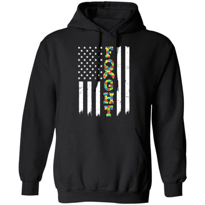 Autism Awareness American Flag Distressed