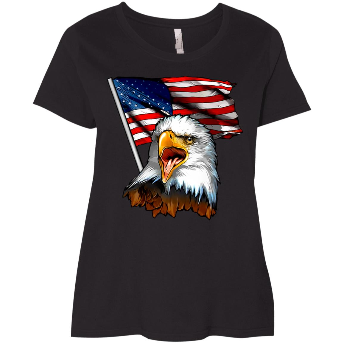 Eagles Flags Veterans Day Happy Veterans Day United States Ladies' Curvy T-Shirt