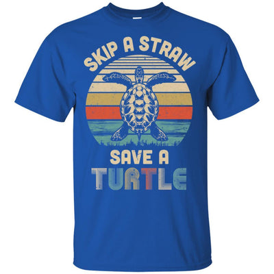 Retro Vintage Skip A Straw Save A Turtle Save Turtles