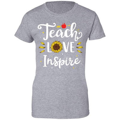 Teach Love And Inspire Teacher Sunflower