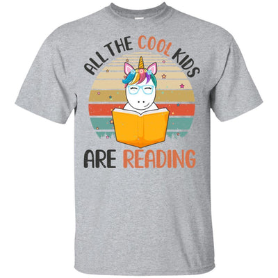 Vintage Unicorn All The Cool Kids Are Reading Book Youth