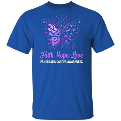 Faith Hope Love Purple Butterfly Pancreatic Cancer Awareness