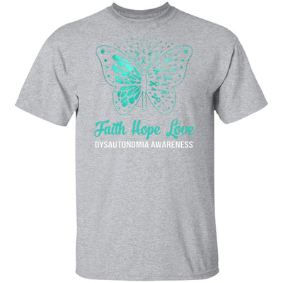 Faith Hope Love Turquoise Butterfly Dysautonomia Awareness