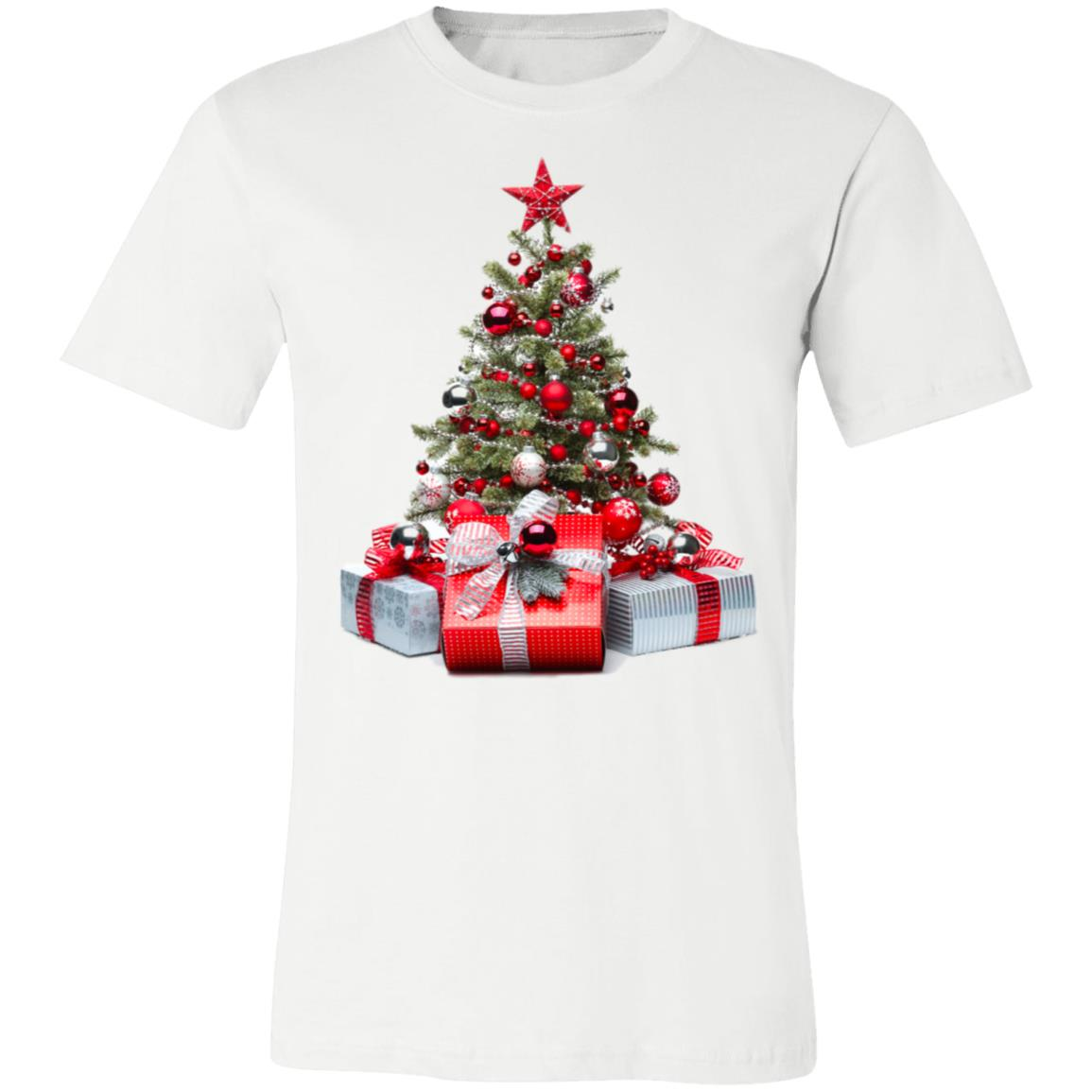 Christmas Tree Ornaments And Gifts Printing Unisex Jersey Short-Sleeve T-Shirt