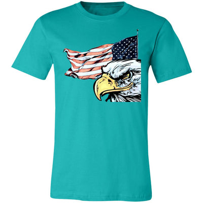 Pop Art Veterans Day Pop Art Retro Vintage Eagles Flags Jersey Short-Sleeve T-Shirt