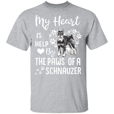 My Heart Is Held By The Paws Of A Schnauzer Lover