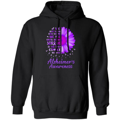Being Strong Daisy Flower Purple Alzheimer's Awareness