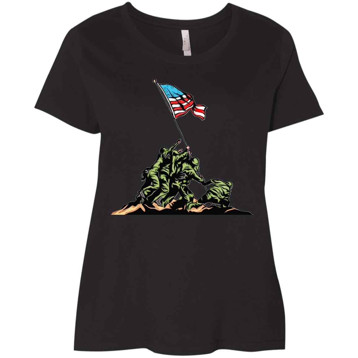 Memorial Day Vererans Day Soldier Ladies' Curvy T-Shirt