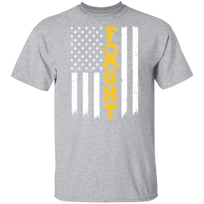 Childhood Cancer Awareness American Flag Distressed