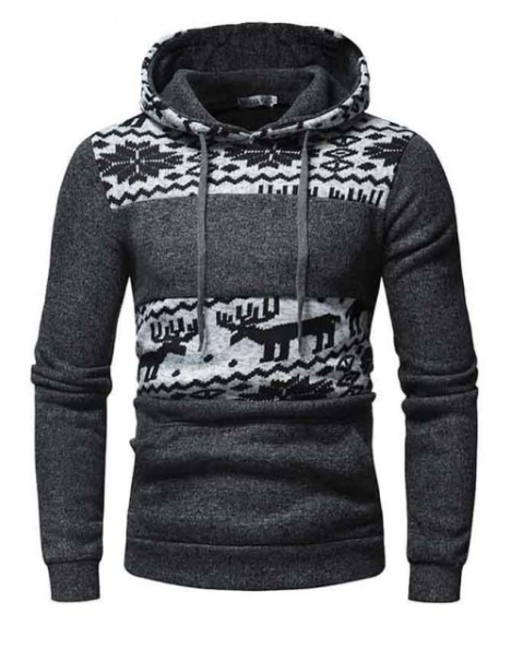 Men Christmas Comfortable Slim Hoodie
