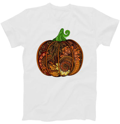 Abstract Pumpkin Thanksgiving Logo T-Shirt