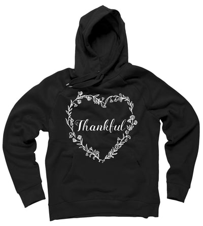 Thanksgiving Thankful Floral Wreath Hoodie