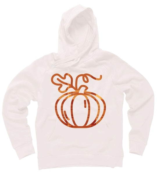 Thanksgiving Halloween Pumpkin Fall Autumn Plaid Hoodie