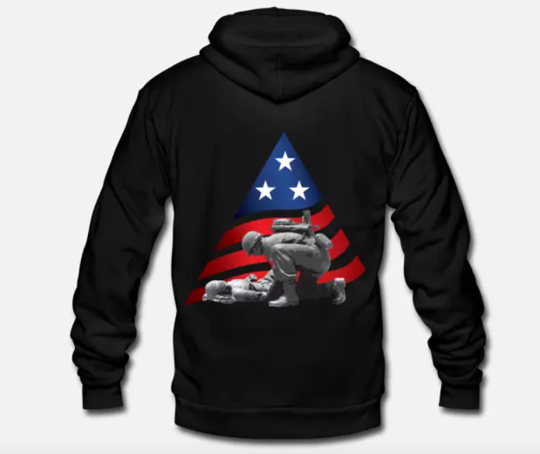 Unisex Fleece Zip Hoodie Veterans Day