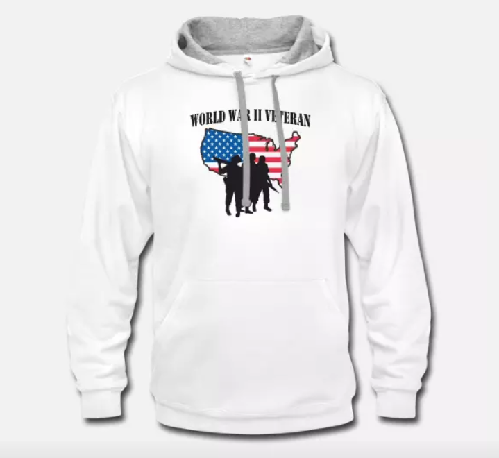 Unisex Two-Tone Hoodie Veterans Day