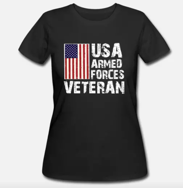 Women's T-Shirt USA Armed Forces Veteran T-Shirt