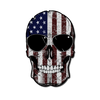 American Skull Flag Decal