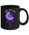 Faith Hope Love Purple Ribbon Cystic Fibrosis Awareness Mug