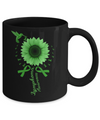 Hummingbird Sunflower Green Ribbon Lymphoma Awareness Mug