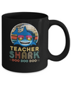 Retro Vintage Teacher Shark Doo Doo Doo Mug
