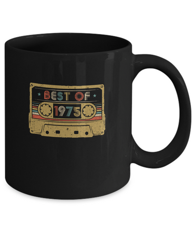 Vintage Cassette Best Of 1975 44th Cassette Birthday Gifts Mug
