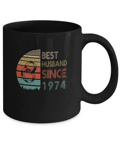 45th Wedding Anniversary Gifts Best Husband Since 1974 Mug