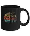 60th Wedding Anniversary Gifts Best Wife Since 1959 Mug