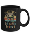 In A World Where You Can Be Anything Be Kind Butterfly Retro Mug