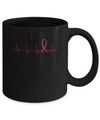 Multiple Myeloma Awareness Burgundy Ribbon Heartbeat Mug