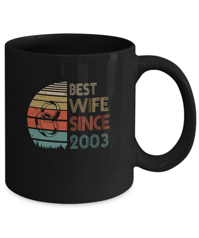 16th Wedding Anniversary Gifts Best Wife Since 2003 Mug