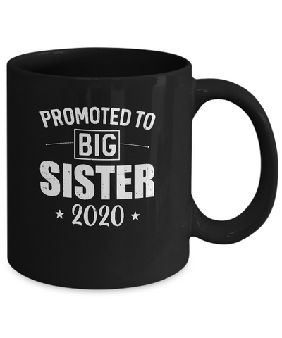 Promoted To Big Sister Est 2020 Vintage Mug
