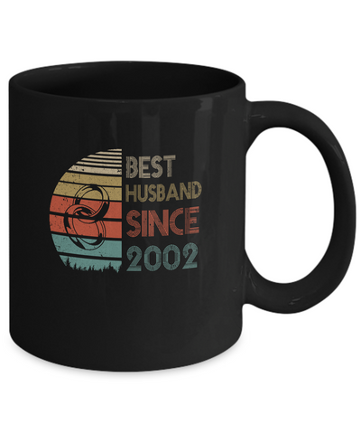 17th Wedding Anniversary Gifts Best Husband Since 2002 Mug