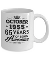 Vintage 1955 October 65Th Birthday Gift Being Awesome Mug