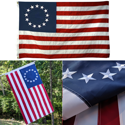 Embroidered Betsy Ross Flag