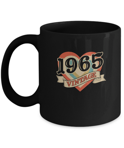 55th Birthday Gifts Classic Retro Heart Vintage 1965 Mug