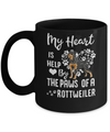 My Heart Is Held By The Paws Of A Rottweiler Lover Mug