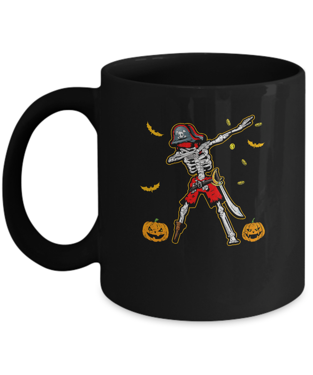 Dabbing Skeleton Pirate For Kids Boys Halloween Gift Dab Mug