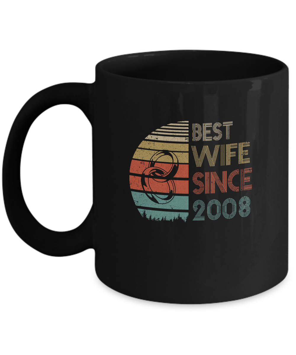 11th Wedding Anniversary Gifts Best Wife Since 2008 Mug