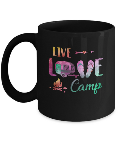 Live Love Camp Car Flip Flops Camping Gifts Mug